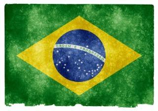 Brasile grunge flag