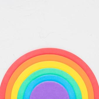 Bright rainbow of lgbt community