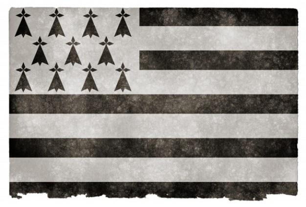 Brittany grunge flag