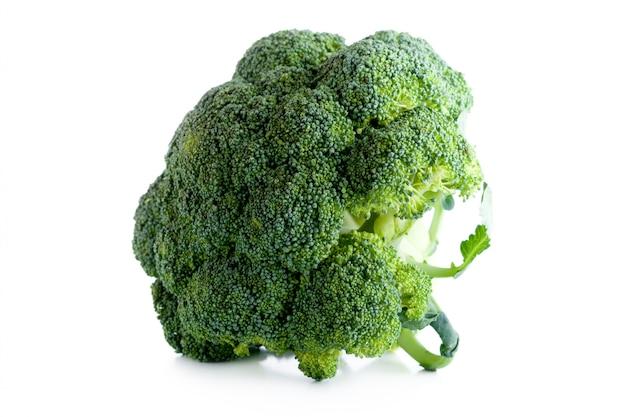 Broccoli over white