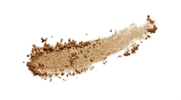 Bronzer, campione di ombretto marrone isolato