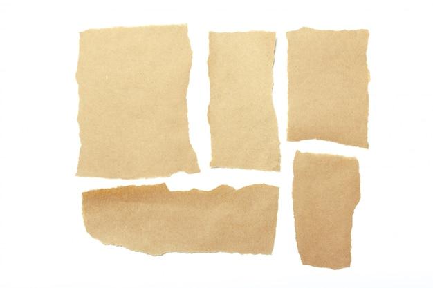 Brown strappò pezzi di carta
