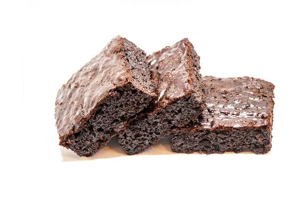 Brownie al cioccolato. cottura fatta in casa messa a fuoco selettiva cibo.