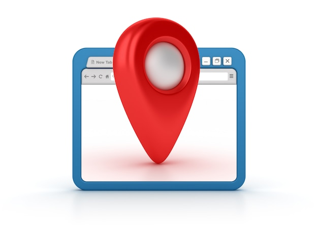 Browser internet con indicatore gps