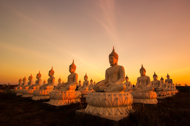 Buddha nel tempio della thailandia