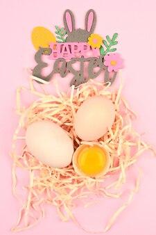 Buona pasqua composizione con uova