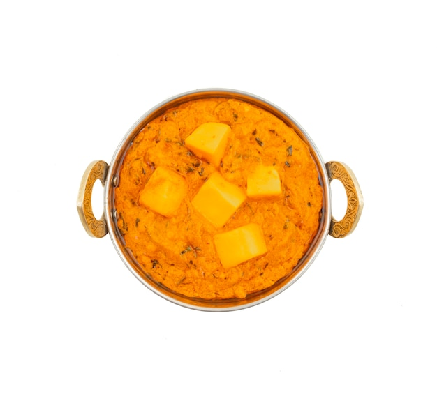Burro di formaggio vegetariano popolare indiano cucina masala