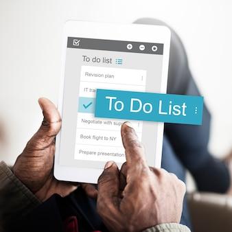 Business digitale per fare l'interfaccia dell'app list