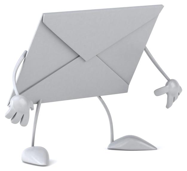 Busta con caratteri per posta elettronica