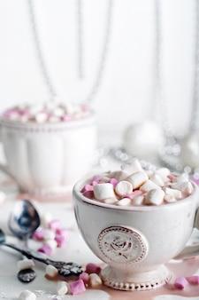 Cacao di natale con marshmallow