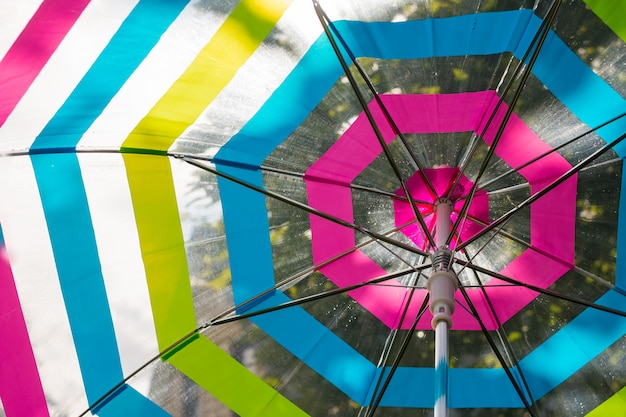 Cade sull'ombrello aperto