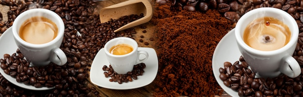Caffè banner collage