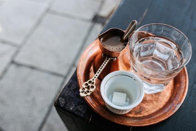 Caffè turco tradizionale.