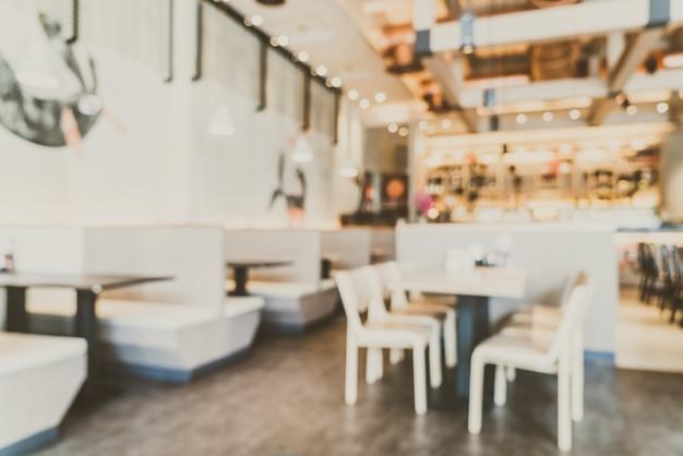 Caffetteria di sfocatura