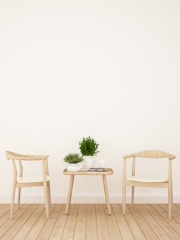 Caffetteria o sala da pranzo - rendering 3d