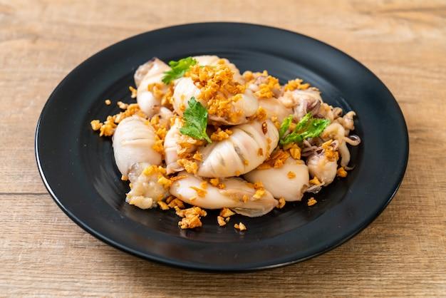 Calamaro fritto o polpo con aglio
