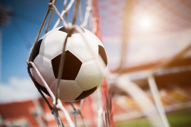 Calcio in concetto di successo obiettivo