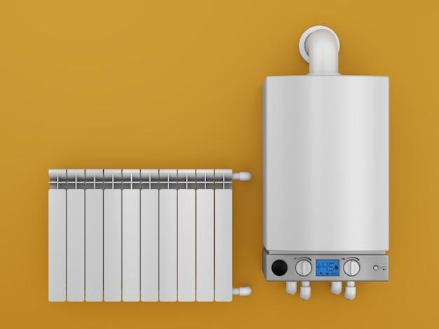 Caldaia e radiatore