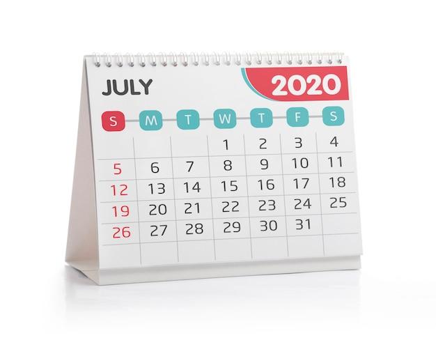 Calendario desktop luglio 2020