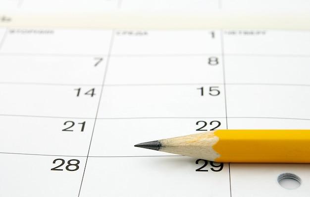 Calendario e una matita