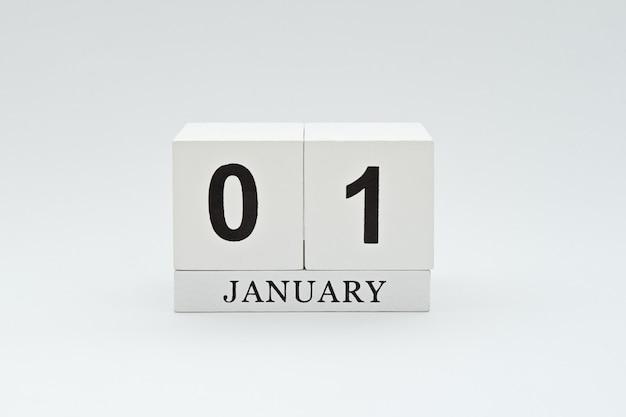Calendario vintage in legno con data