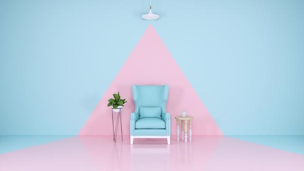 Camera blu e rosa