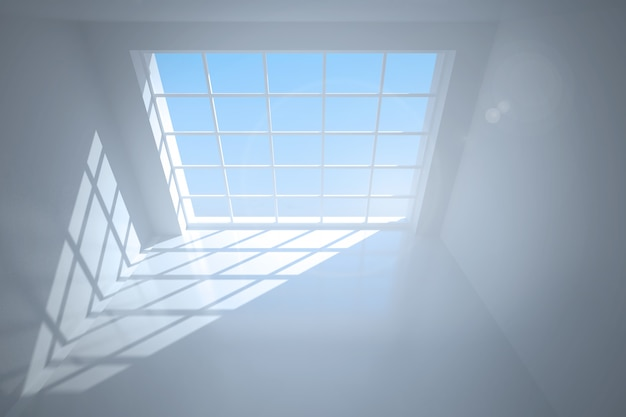 Camera con ampie finestre