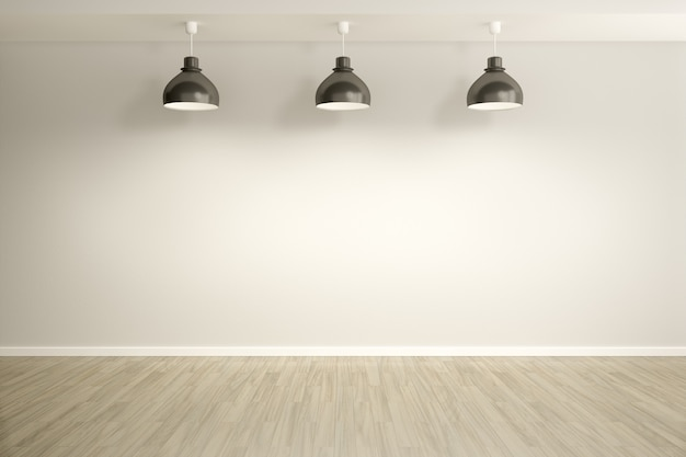 Camera con sfondo di lampade