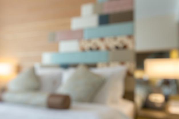Camera d'albergo sfocato sfondo