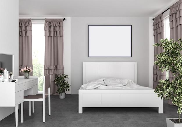Camera da letto con cornice orizzontale
