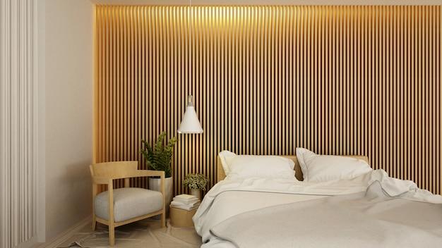 Camera da letto e soggiorno in hotel o appartamento