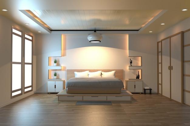 Camera da letto moderna zen tranquilla