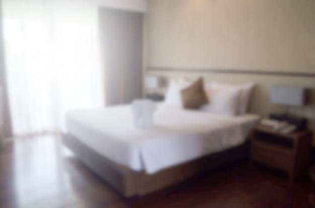 Camera da letto sfocata