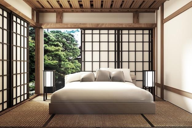 Camera da letto tradizionale in stile giapponese