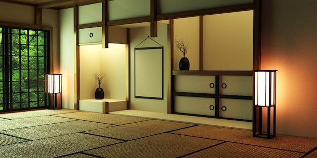 Camera design in stile giapponese. rendering 3d