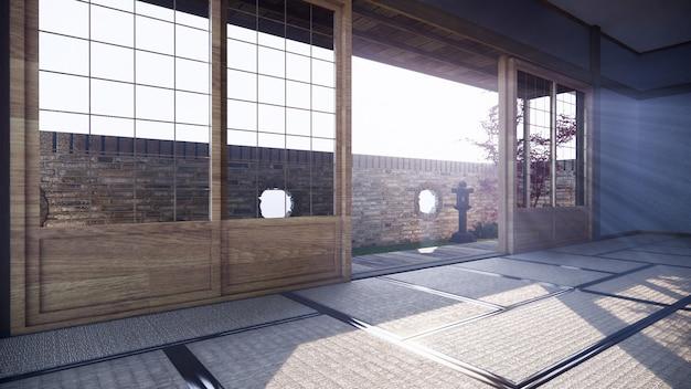 Camera luminosa con porte aperte