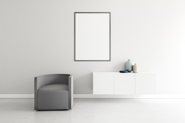 Camera minimale con mobili eleganti