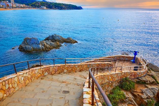 Cami de ronda traccia lloret de mar della costa brava