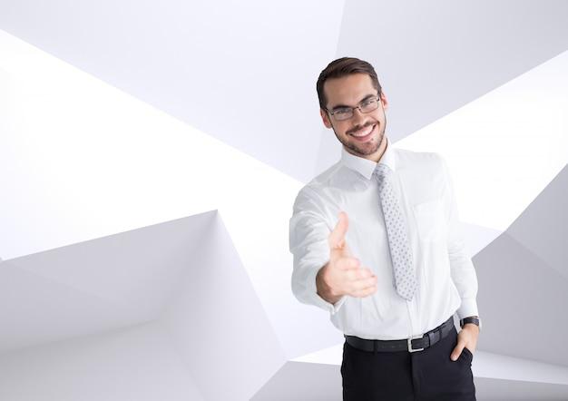 Camicia cravatta grafica professione mano