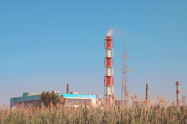 Camino industriale di fumo