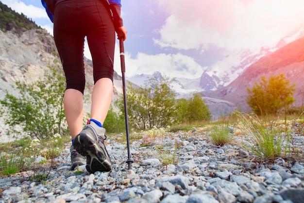 Camminata nordica in alta montagna
