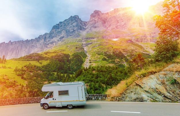 Camper mountain trip