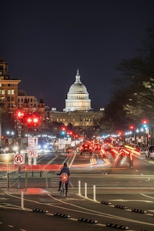 Campidoglio degli stati uniti a tempo crepuscolare, washington, dc, stati uniti d'america o stati uniti d'america