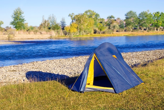 Camping dal bellissimo fiume