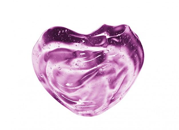 Campione a forma di cuore rosa cosmetico del gel del siero isolato