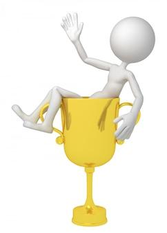 Campione con coppa trofeo