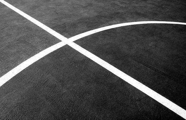 Campo da basket del primo piano