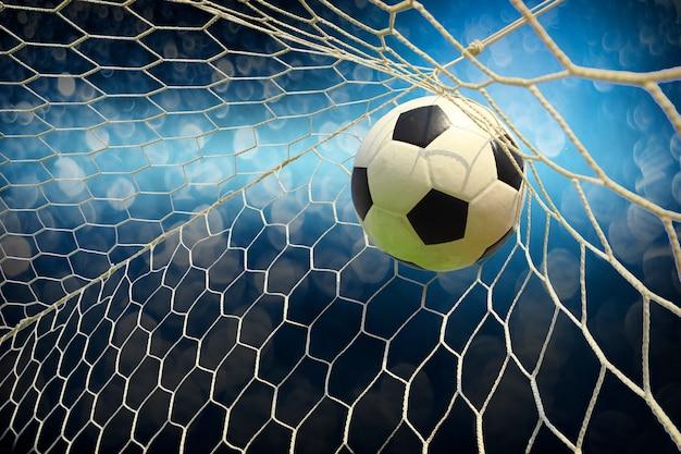 Campo da calcio con una palla