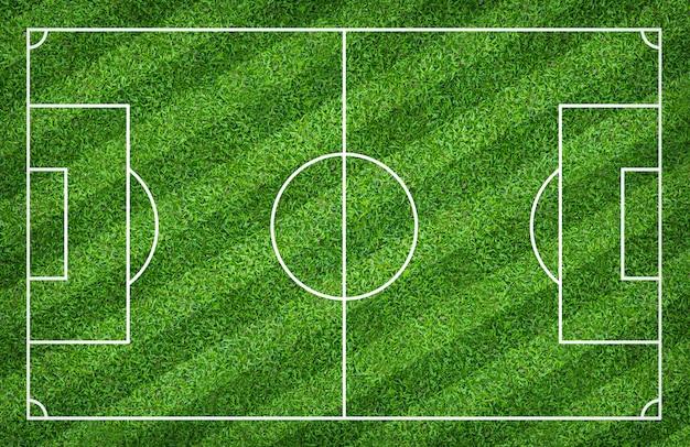 Campo di calcio o campo di calcio per lo sfondo. con motivo a corte verde.