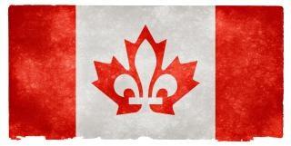 Canada fusione grunge, bandiera, danneggiato
